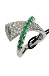 RECARLO anello con smeraldi e diamanti art r153