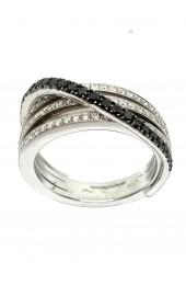 GIORGIO VISCONTI anello con diamanti neri art gv44