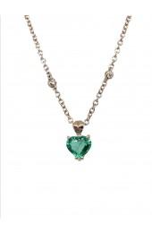 STOPPIANA girocollo smeraldo cuore art st39