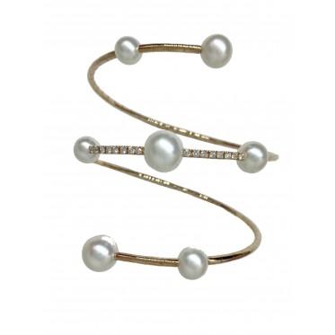 GIORGIO VISCONTI bracciale a spirale con perle art gv32
