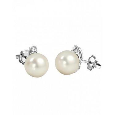 GIORGIO VISCONTI orecchini perla con diamantino art gv31
