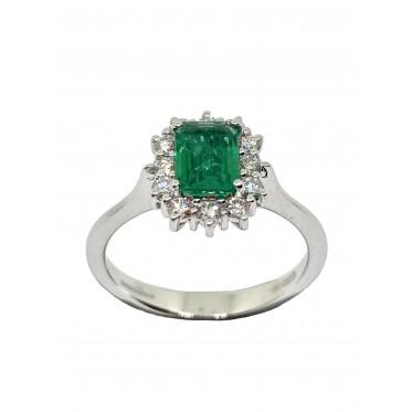 GIORGIO VISCONTI anello con smeraldo art gv24
