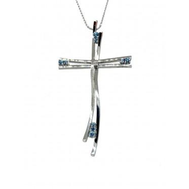 STROPPIANA girocollo croce con topazi art st20