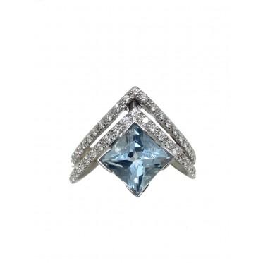 RECARLO anello con acquamarina art r150