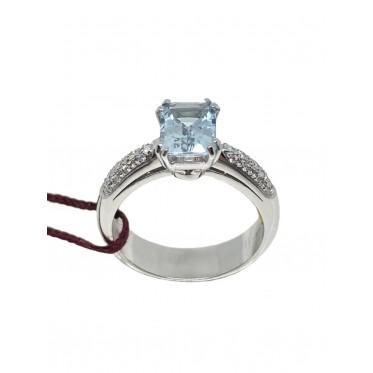 RECARLO anello con acquamarina art r151