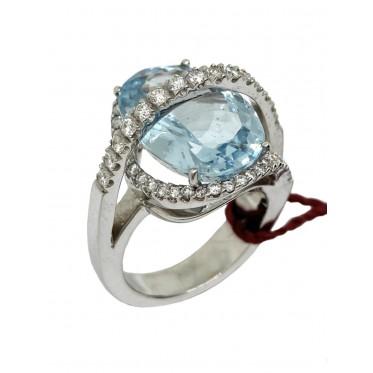 RECARLO anello con acquamarina art r152