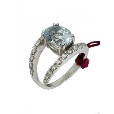 STROPPIANA anello con acquamarina art st26