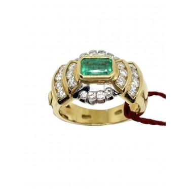 RECARLO anello con smeraldo art r154