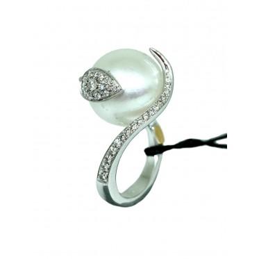 RECARLO anello con perla art r168