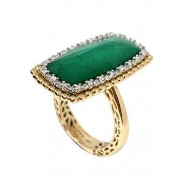 GIORGIO VISCONTI anello con smeraldo art gv15