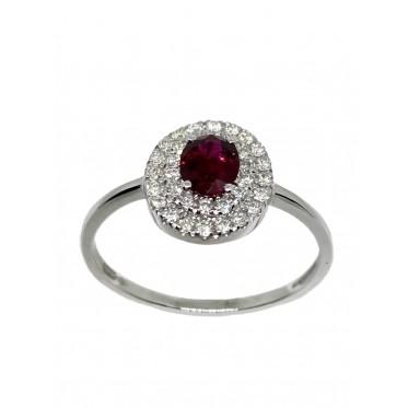 GIORGIO VISCONTI anello con rubino art gv12