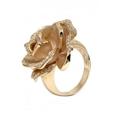 CAMMILLI anello black rose art ac23