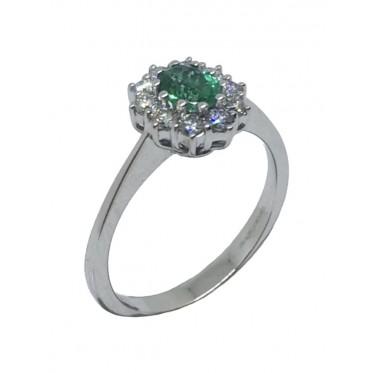 GIORGIO VISCONTI anello con smeraldo art gv11