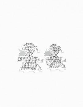 LE BEBE' orecchini pavè art lb38