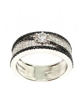 GIORGIO VISCONTI anello con diamanti neri art gv45